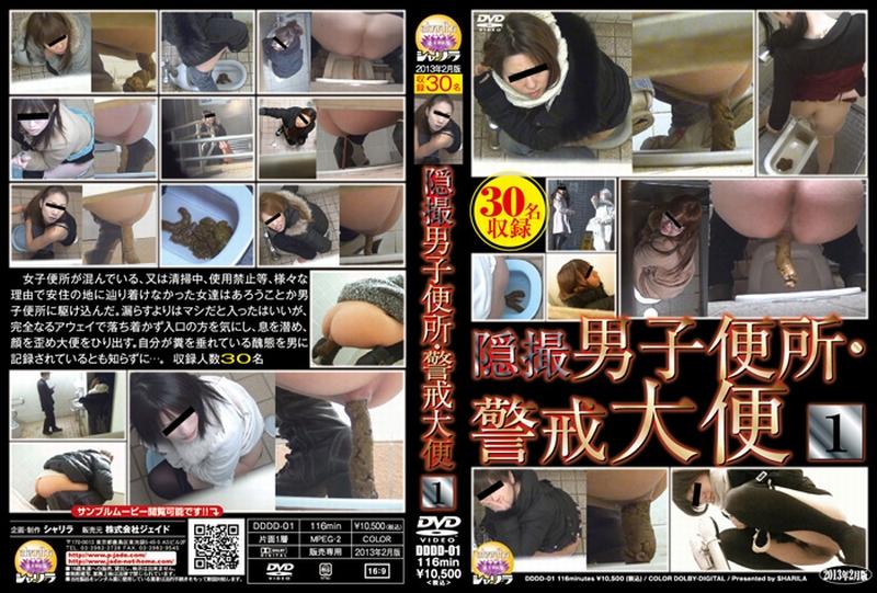 [DDDD-01] 隠撮 男子便所・警戒大便 1 2013/02/10 Defecation 116分