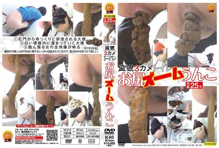 [EE-012] 盗覗3カメトイレ お尻ズームうんこ Voyeur エボ・ビジュアル 盗撮 トイレ(盗撮)